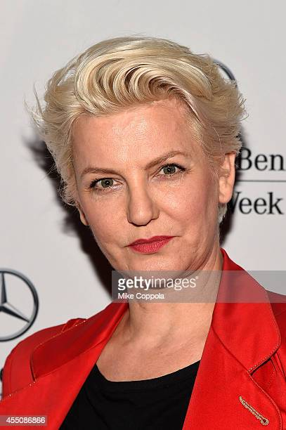 Mariana Verkerk attends the Mercedes-Benz Lounge during Mercedes-Benz Fashion Week Spring 2015 at Lincoln Center on September 9, 2014 in New York...