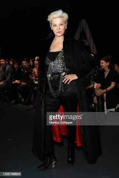Mariana Verkerk attends the Sheguang Hu fashion show during February 2020 - New York Fashion Week: The Shows on February 11, 2020 in New York City.