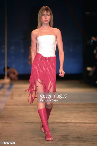 Mariana Weickert during 2001 Sao Paulo Fashion Week Patachou at Bienal Ibirapuera in Sao Paulo Sao Paulo Brazil
