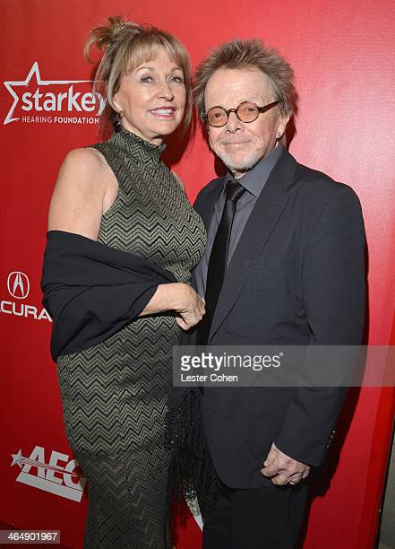 Mariana Williams and Musician Paul Williams attend 2014 MusiCares Person Of The Year Honoring Carole King at Los Angeles Convention Center on January...