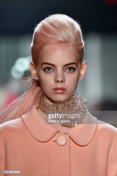 Mariana Zaragoza walks runway at the Marc Jacobs Spring 2019 Runway during New York Fashion Week The Shows at Park Avenue Armory on September 12 2018...
