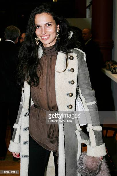 Mariana Zois attends KARL LAGERFELD GREEK REVIVAL Exhibition hosted by PIERRE PASSEBON at DELORENZO Gallery on December 17 2007 in New York City