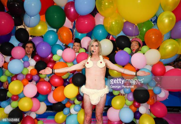 Marianas Trench arrive at the 2017 iHeartRADIO MuchMusic Video Awards at MuchMusic HQ on June 18 2017 in Toronto Canada