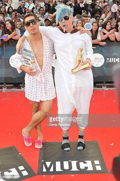 Marianas Trench arrives at the 2014 MuchMusic Video Awards at MuchMusic HQ on June 15 2014 in Toronto Canada