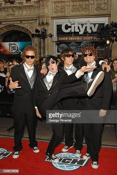 Marianas Trench during 18th Annual MuchMusic Video Awards Red Carpet at Chum/City Building in Toronto Ontario Canada
