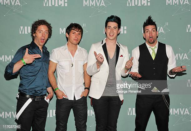 Marianas Trench pose in the press room at the 22nd Annual MuchMusic Video Awards at the MuchMusic HQ on June 19 2011 in Toronto Canada