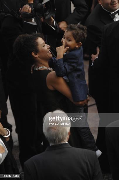 Mariane Pearl, her son Adam Pearl.