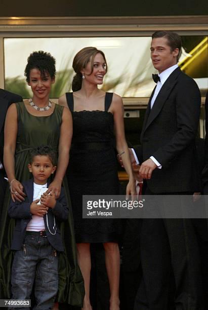 Mariane Pearl with her son Adam Angelina Jolie and Brad Pitt