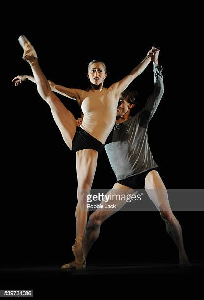Marianela Nunez and Edward Watson perform in the Royal Ballet's production of Wayne McGregor's Infra at the Royal Opera House Covent Garden in London
