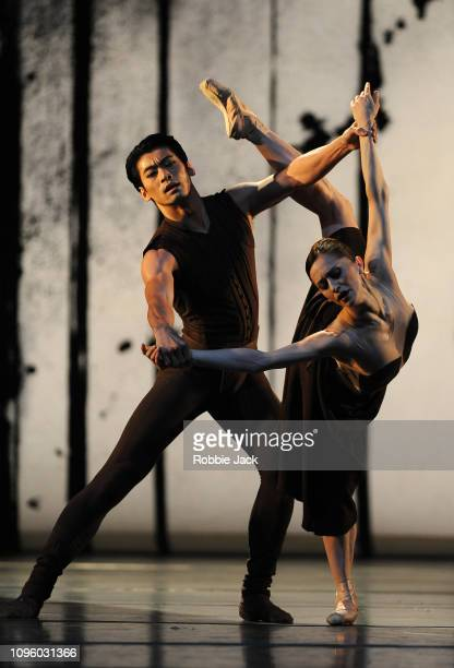 Marianela Nunez and Ryoichi Hirano in Asphodel Meadows at The Royal Opera House on January 17 2019 in London England