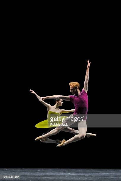 Marianela Nunez and Steven McRae in the Royal Ballet's production of William Forsythe's The Vertiginous Thrill of Exactitude at The Royal Opera House...