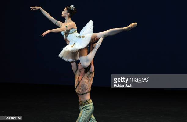 Marianela Nunez and Vadim Muntagirov in in The Royal Ballet's production of Le Corsair at The Royal Opera House on November 12, 2020 in London,...