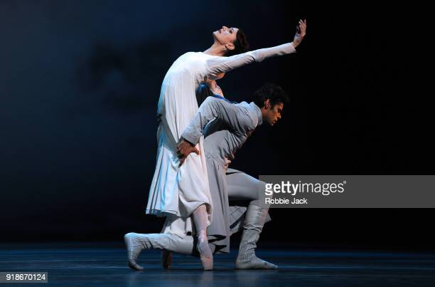 Marianela Nunez as Hermione and Thiago Soares as Leontes in the Royal Ballet's production of Christopher Wheeldon's The Winters Tale at The Royal...