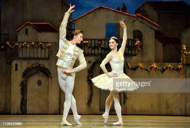 Marianela Nunez as Kitri and Vadim Muntagirov as Basilio in The Royal Ballet's production of Carlos Acosta's Don Quixote at The Royal Opera House on...