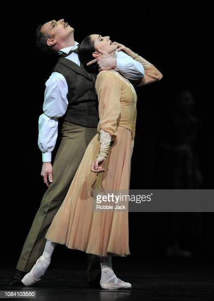 Marianela Nunez as Masha and Bennet Gartside as Kulygin in Kenneth MacMillan's Winter Dreams at The Royal Opera House on December 17 2018 in London...