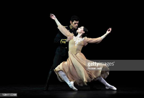 Marianela Nunez as Masha and Thiago Soares as LtCol Vershinin in Kenneth MacMillan's Winter Dreams at The Royal Opera House on December 17 2018 in...