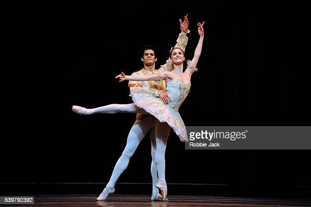 Marianela Nunez as Princess Aurora and Thiago Soares as Prince Florimund in the Royal Ballet's production of Marius Petipa's The Sleeping Beauty at...
