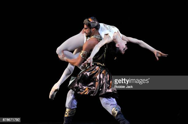 Marianela Nunez as Sylvia and Thiago Soares as Orion in the Royal Ballet's production of Frederick Ashton's Sylvia at the Royal Opera House on...