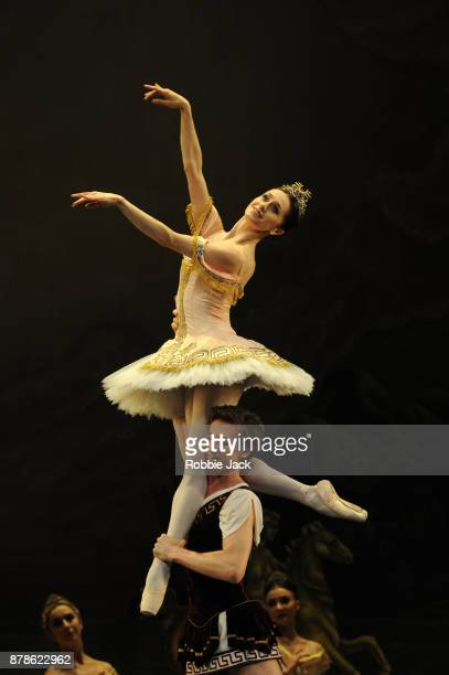 Marianela Nunez as Sylvia and Vadim Muntagirov as Aminta in the Royal Ballet's production of Frederick Ashton's Sylvia at the Royal Opera House on...