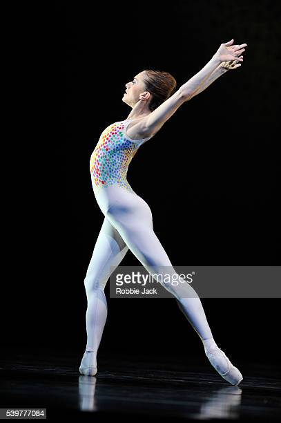 Marianela Nunez in the Royal Ballet's production of Glen Tetley's Voluntaries at the Royal Opera House Covent Garden in London