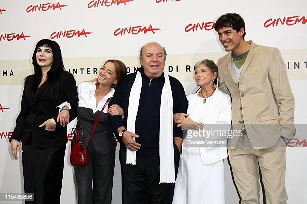 Mariangela D'Abbraccio, Diana de Curtis, Lino Banfi, Iliana de Curtis and Alessandro Gassman attend the photocall for Un Principe Chiamato Toto...
