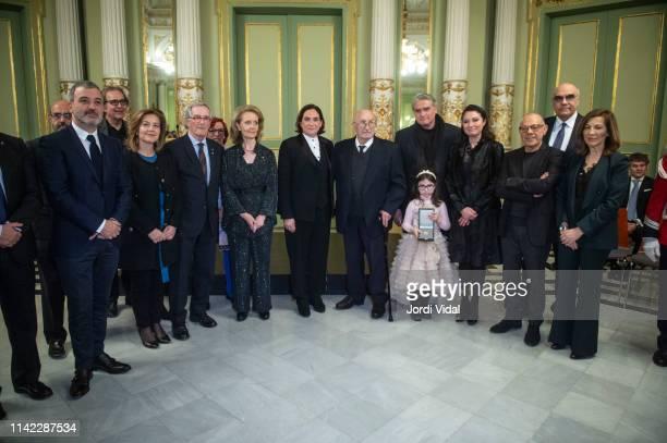 Mariangela Vilallonga The Mayor of Barcelona Ada Colau Montserrat Caballe husband Bernabe Marti son Bernabe Marti Caballe graddaughter Daniela...