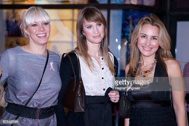 Mariann Aas Hansen, Eva Sannum and Nora Farah attend a Charity Gala on October 29, 2009 in Oslo, Norway.