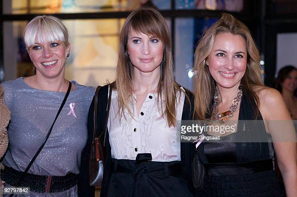 Mariann Aas Hansen, Eva Sannum and Nora Farah attend a Charity Gala on October 29, 2009 in Oslo, Norway .