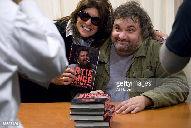 Mariann from Brooklyn and Artie Lange of SIRIUS XM's Howard Stern Show attend Lange's book signing for Too Fat To Fish at Barnes Noble on November 11...