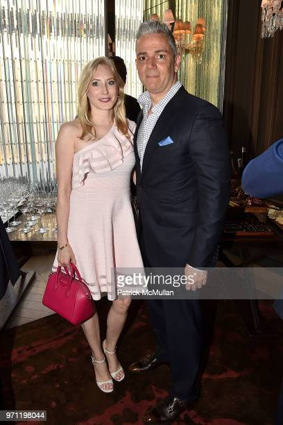 Mariann Stamatakis and Bill Stamatakis attend Christopher R King Debuts New Luxury Brand CCCXXXIII at Baccarat Hotel on June 5 2018 in New York City
