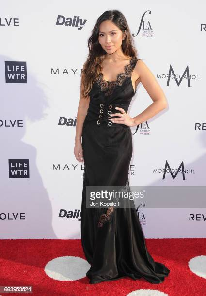 Marianna Hewitt arrives at the Daily Front Row's 3rd Annual Fashion Los Angeles Awards at the Sunset Tower Hotel on April 2 2017 in West Hollywood...
