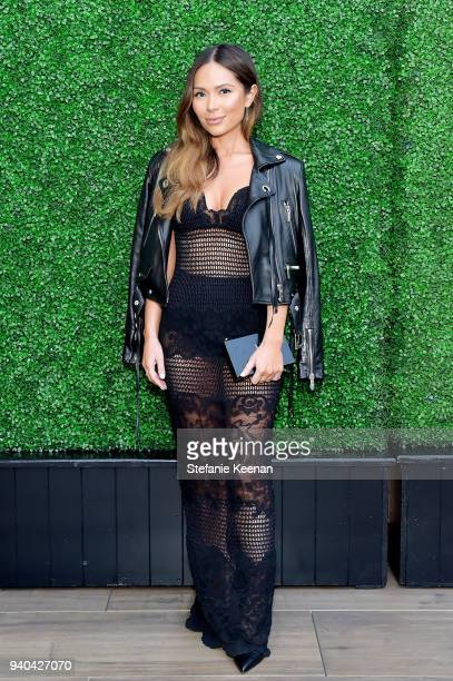 Marianna Hewitt attends KKWxMario Dinner at JeanGeorges Beverly Hills on March 31 2018 in Beverly Hills California