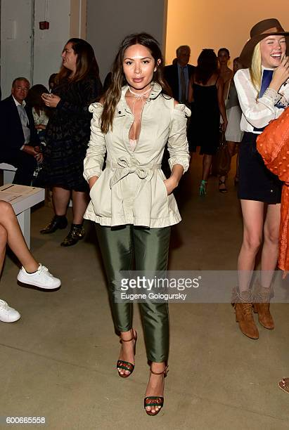 Marianna Hewitt attends the Marissa Webb - Front Row & Backstage - September 2016 New York Fashion Week: The Shows at The Gallery, Skylight at...