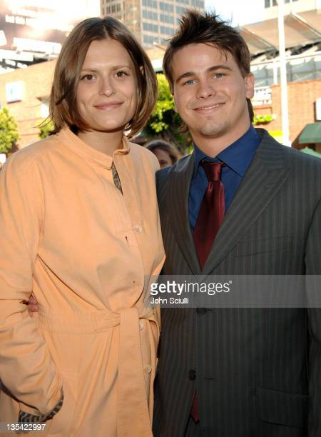 Marianna Palka and Jason Ritter during 'Happy Endings' Los Angeles Premiere Red Carpet at Mann National Theatre in Westwood California United States