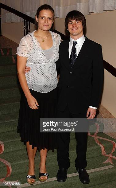 Marianna Palka and Jason Ritter during The Museum of Television and Radio Honors CBS News's Dan Rather and 'Friends' Producing Team Inside at Beverly...