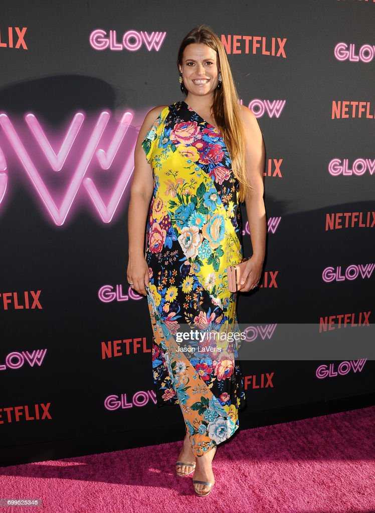 Marianna Palka attends the premiere of 'GLOW' at The Cinerama Dome on June 21, 2017 in Los Angeles, California.
