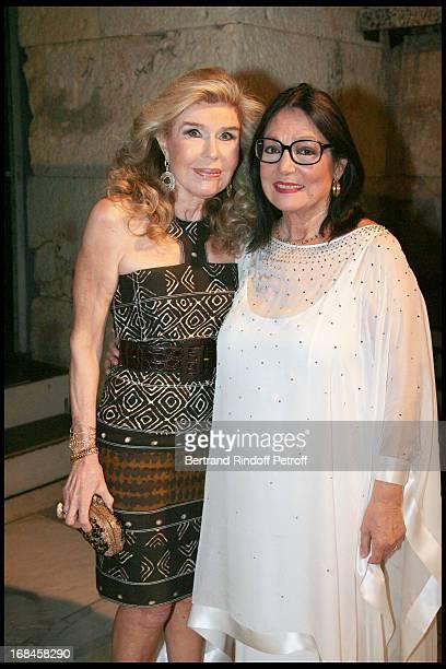 Marianna Vardinoyannis and Nana Mouskouri at Nana Mouskouri's Farewell Concert At Odeon Herodes Atticus In Athens