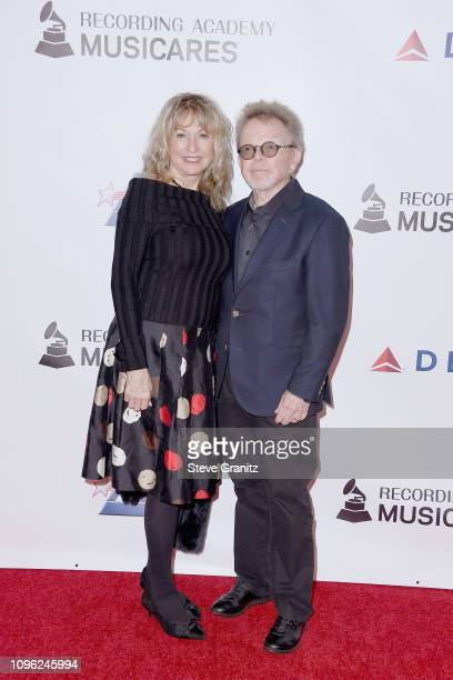 Marianna Williams and ASCAP President/Chairman of the Board Paul Williams attend MusiCares Person of the Year honoring Dolly Parton at Los Angeles...