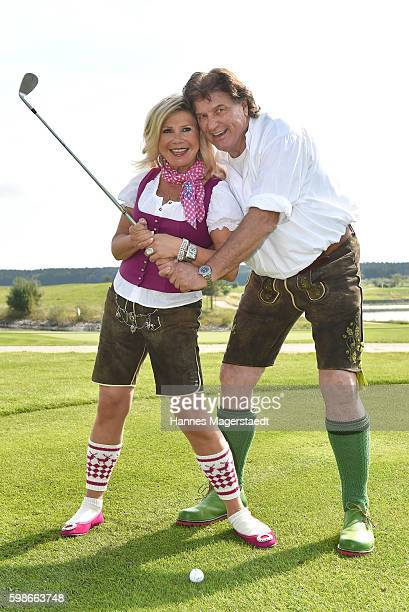 Marianne and Michael Hartl during the 5th Lederhos'n Cup on September 2 2016 in Valley near Holzkirchen Germany