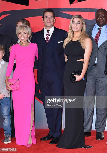 Marianne Cavill Henry Cavill and Tara King arrive for the European Premiere of 'Batman V Superman Dawn Of Justice' at Odeon Leicester Square on March...