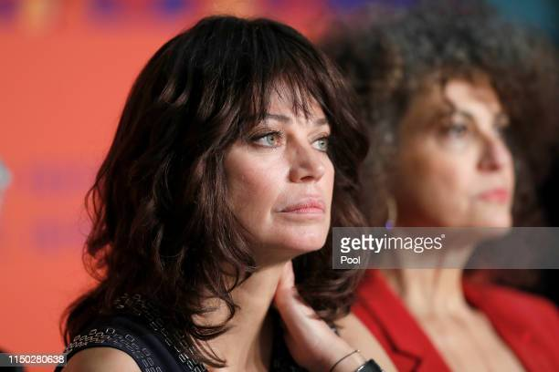 Marianne Denicourt and Souad Amidou attend the The Best Years of a Life press conference during the 72nd annual Cannes Film Festival on May 19 2019...