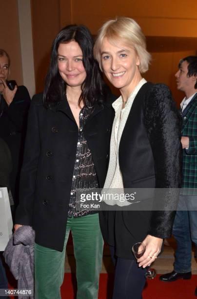 Marianne Denicourt and Vanessa Bruno attend the Vanessa Bruno Front Row Paris Fashion Week Womenswear Fall/Winter 2012 at Thatre National de Chaillot...