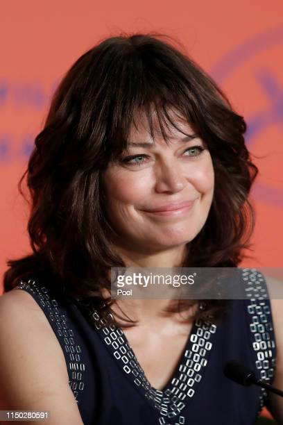 Marianne Denicourt attends the The Best Years of a Life press conference during the 72nd annual Cannes Film Festival on May 19 2019 in Cannes France