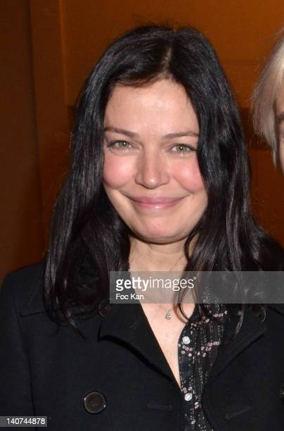 Marianne Denicourt attends the Vanessa Bruno Front Row Paris Fashion Week Womenswear Fall/Winter 2012 at Thatre National de Chaillot on March 5 2012...