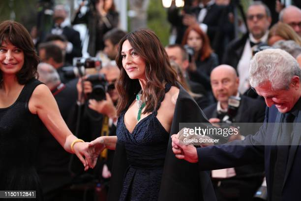 Marianne Denicourt Monica Bellucci and Claude Lelouch attend the screening of Les Plus Belles Annees D'Une Vie during the 72nd annual Cannes Film...