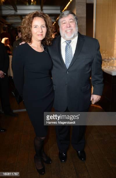 Marianne Doelz manager Handelsblatt and Steve Wozniak cofounder Appleattend the Best Brands 2013 Gala at Bayerischer Hof on February 6 2013 in Munich...