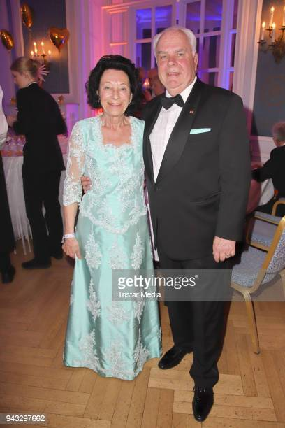 Marianne Ehnert and Guenter Ehnert during the 21st Blauer Ball at Hotel Atlantic on April 7 2018 in Hamburg Germany