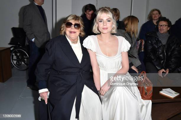 Marianne Faithfull and Lucy Boynton attend the Chloe show as part of the Paris Fashion Week Womenswear Fall/Winter 2020/2021 on February 27 2020 in...