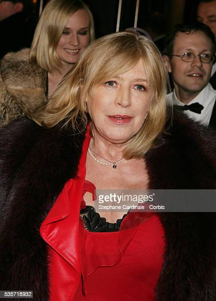 Marianne Faithfull at cocktail party held at The Lido in Paris