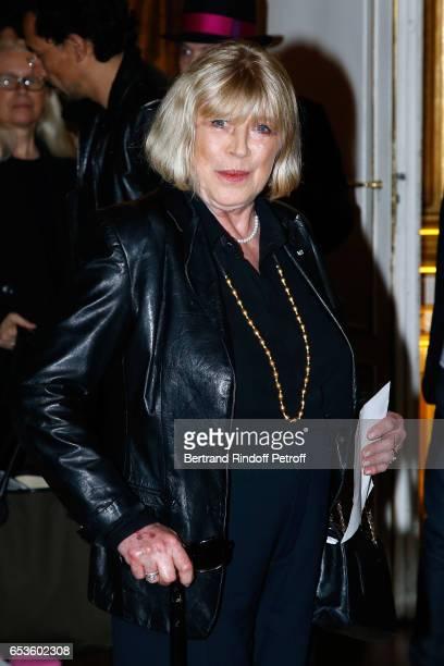 """Marianne Faithfull attends Marie-Agnes Gillot is decorated """"Chevalier de lordre national de la Legion d'Honneur"""" at Ministere de la Culture In Paris..."""